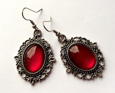 Vintagetype Red Earrings
