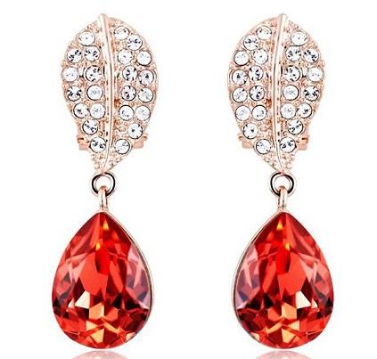 Red Diamond Earrings