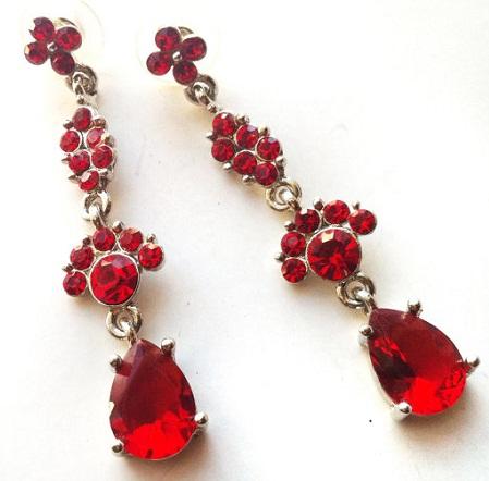 Chandelier Red Earrings