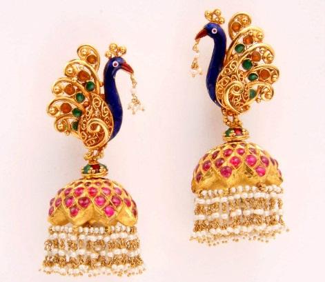temple-jewelry-jhumka-awesome-peacock-jhumkas-3