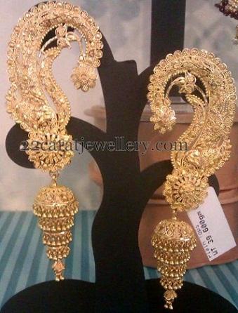 temple-jewelry-jhumka-floral-jhumka-design