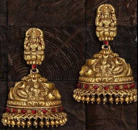 temple jhumkas