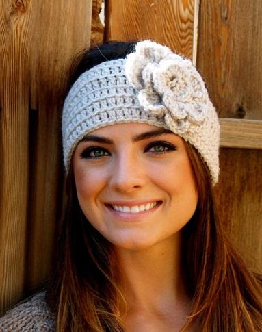 Flower Shaped Crochet Headbands