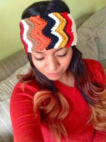 Chevron Crochet Headbands