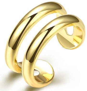 Retro Look Gold Toe Rings