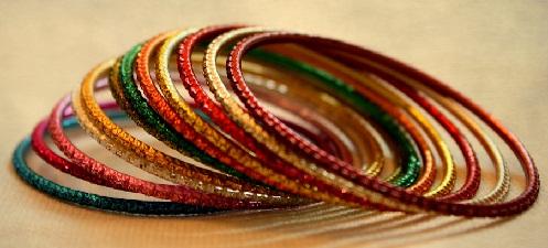 Simple Metal Colour Bangles