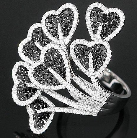 Latest Designer Heart veil Diamond Ring