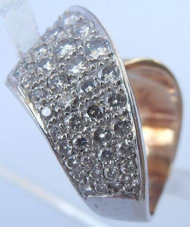 twisted designer diamond ring