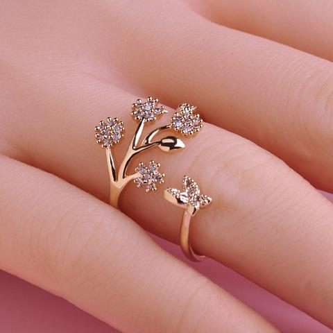 Adjustable Designer Wedding Diamond Ring
