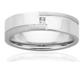 Plain White Gold Ring