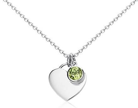 Citrine birthstone heart pendant
