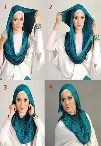 Printed School Hijab Style