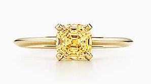Simple Sapphire Yellow Diamond Ring