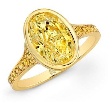 Yellow Diamond Ring in Gold