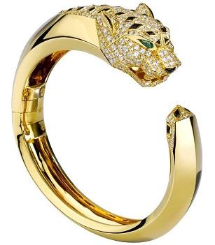 tiger-shaped-gold-bangle-for-men