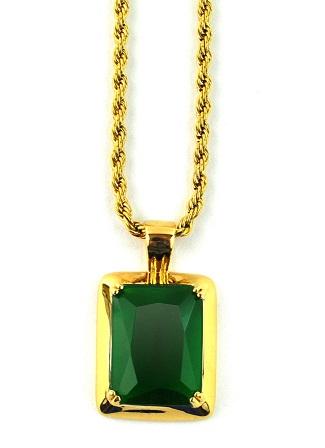 Emerald gold pendant