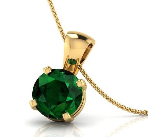 Petite emerald pendants