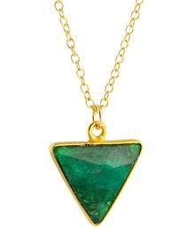 Geometric emerald pendant
