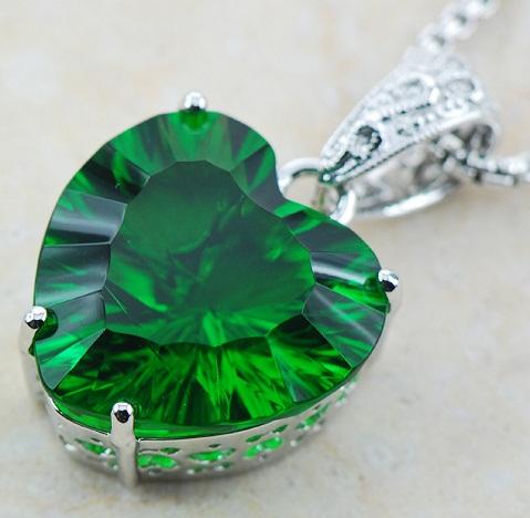 Simulated emerald pendant