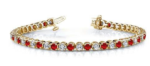 Red gemstone bracelet
