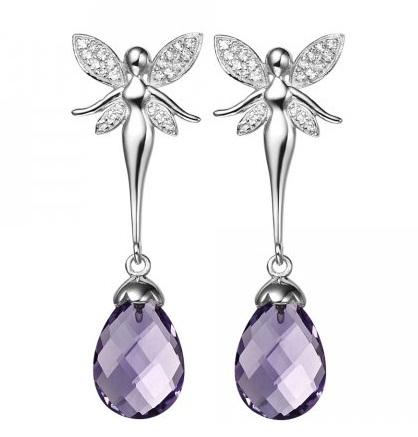Silver Gemstone earrings