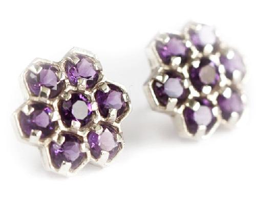 Geometric design Gemstone earrings