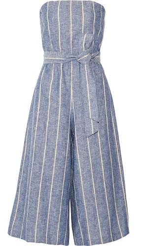 Pinstriped Cotton Jumpsuit
