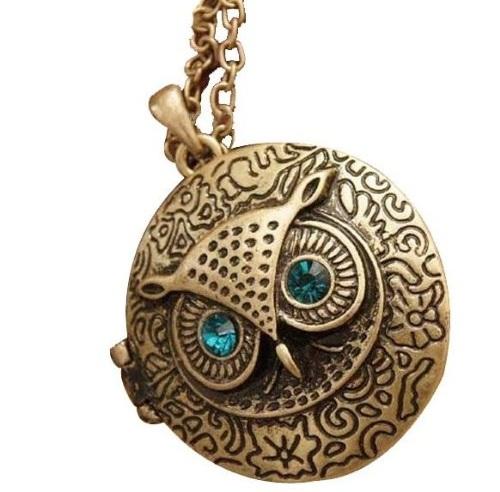 Split Owl Locket