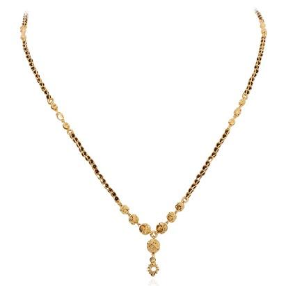 Black bead- Golden Ball Mangalsutra with Gold pendant