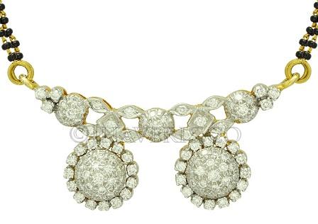 Diamond Studded Vati MAngalsutra