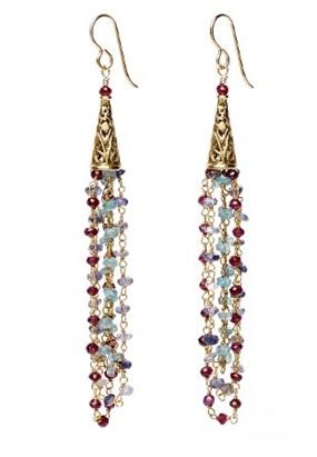 January birthstone chain earrings