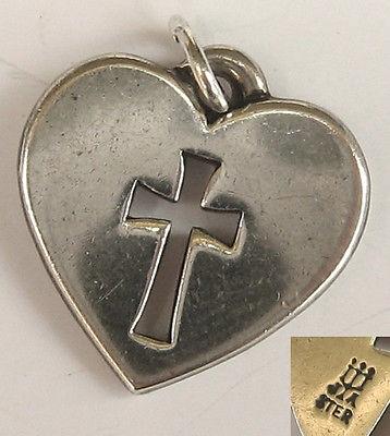 Cross let Heart Pendant