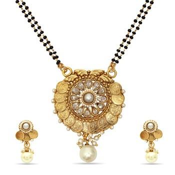 Studded Gold Platted Mangalsutra