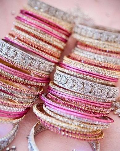 Bridal Bangle Sets in Crystals