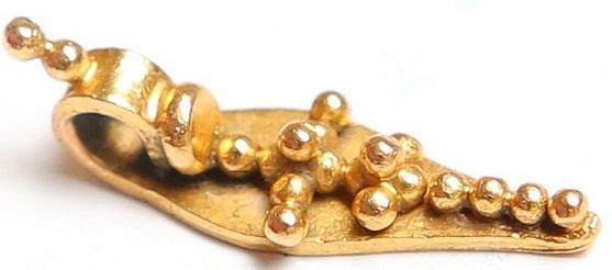Golden cross beads