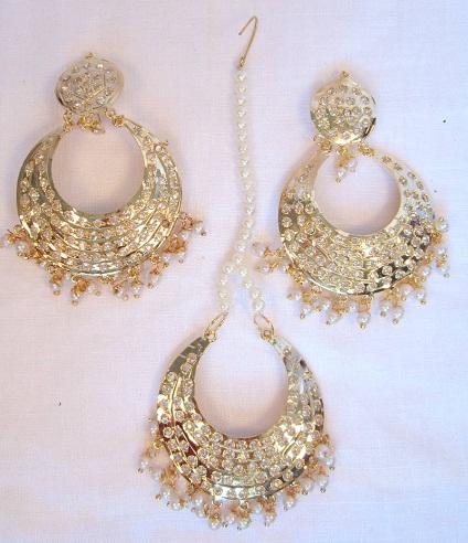 Jadau Maang Tikka and Earring Sets