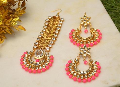 Passa Maang Tikka and Earring Sets