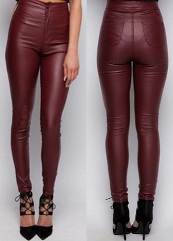 Plus Size Leather Jean