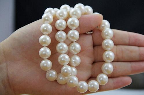 Round Bright Light Natural Pearls