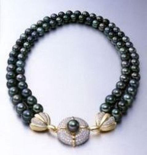 Japanese Akoya Black Pearl Necklace
