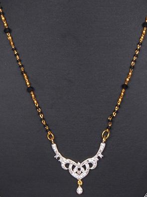 Golden chain American diamond set