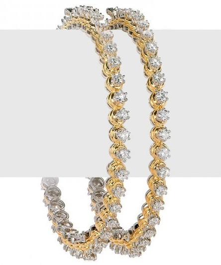 Solitaire Diamond Bangles