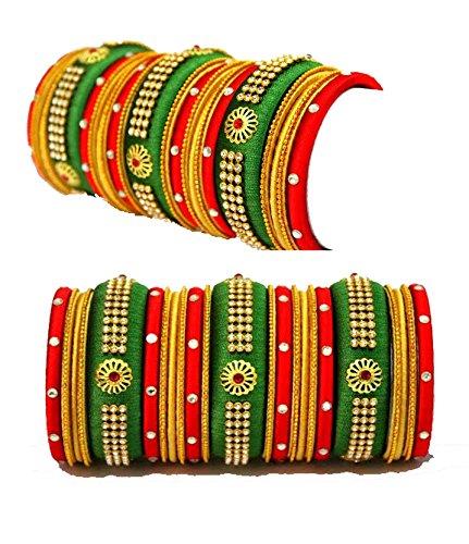 Bridal Silk Thread Bangle Set
