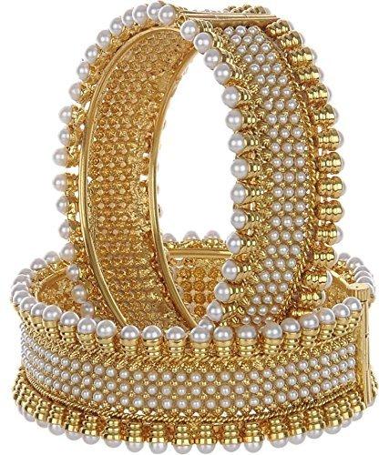 Pearl Wedding Kada Bangles