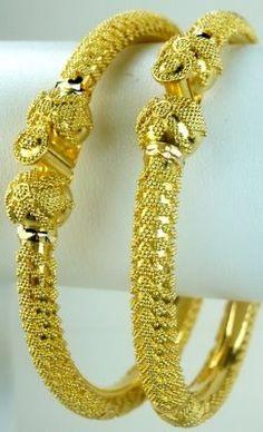 Gold Kada Bangle Design