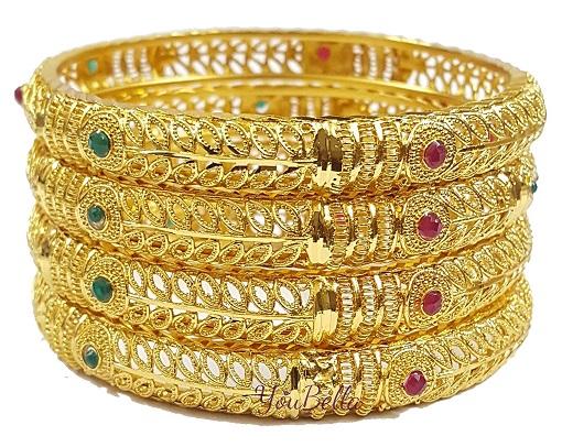 Traditional Gold Plated Bangle Set