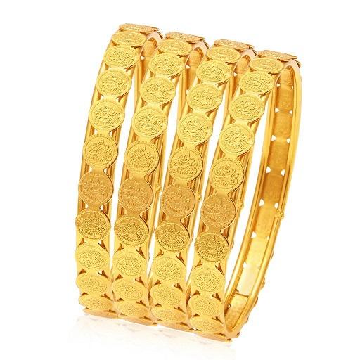 Gold Plated Kasu Bangles
