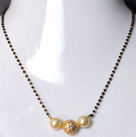 Gold plated Antique Mangalsutra Design