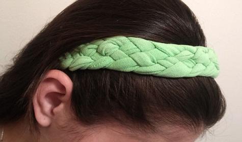 Braided Headband From t-Shirts