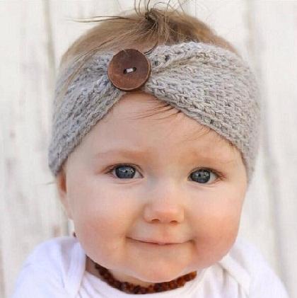 Turban Crochet Headband for Baby